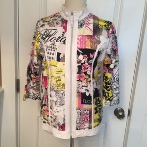 SPARTELLE JACKET ZIP GRAPHIC FLORAL ART SMALL